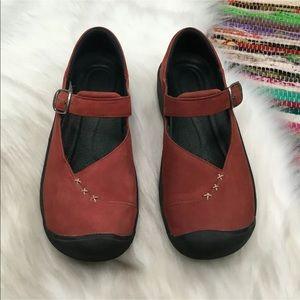 Keen Womens Verona Comfort Shoes Leather Walk Hike